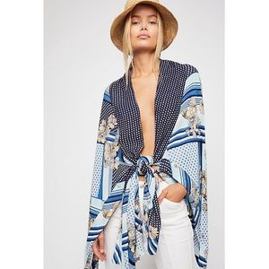 Free People Morning Glory Printed Kimono